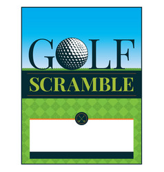 Golf tournament scramble flyer vector