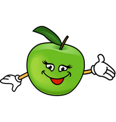 Happy apples vector image