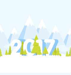 happy new year landscape concept cartoon vector image