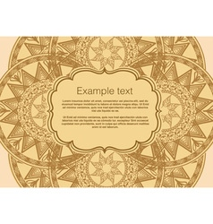 invitation card boho vector image
