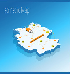 Map germany isometric concept vector