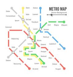 Metro map city transportation scheme vector