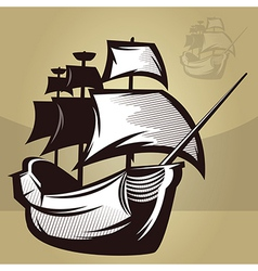 Old World Ship vector image