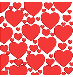 Pattern of light red hearts vector
