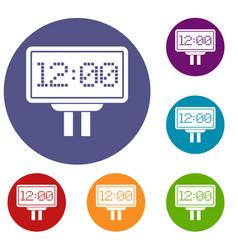 Scoreboard icons set vector