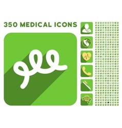 Spiral bacillus icon and medical longshadow icon vector