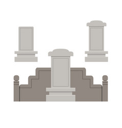 Traditional chinese tombstone in flat style vector