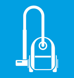 Vacuum cleaner icon white vector