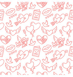 valentines day seamless pattern love romance vector image vector image