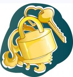 wedding lock vector image vector image