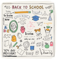 BACK TO SCHOOL GRAPHIC DESIGN vector image