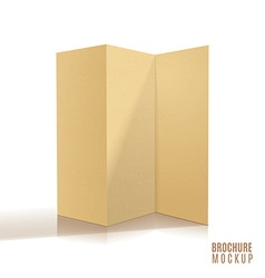 Blank tri-fold brochure design isolated vector