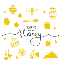 Design elements honey coloured vector