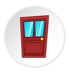 Interior door icon cartoon style vector