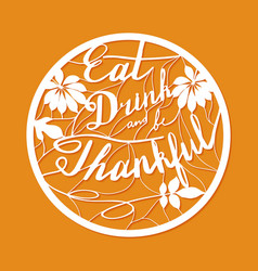 Thanksgiving laser cutting template vector