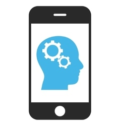 Smartphone intellect gears eps icon vector