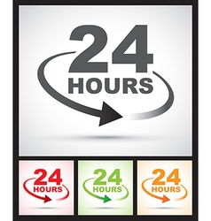 24 hours set vector image