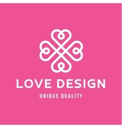 Love design hearts in the form of a monogram style vector