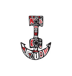 Anchor northwest coast art vector
