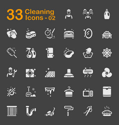 33 cleaning icons 02 vector