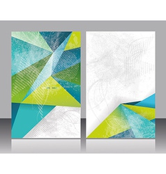 Brochure or flyer design with abstract geometrical vector