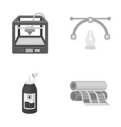3d printer newspaper printer ink pen vector