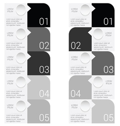 Infographic set in black vector
