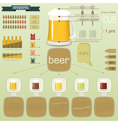 Vintage infographics set - beer icons and elements vector