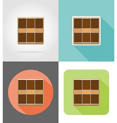 Furniture flat icons 15 vector