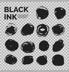 abstract background set of black ink vector image