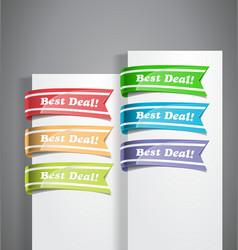 Best Deal Labels vector image vector image