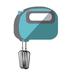 Blue color silhouette of kitchen mixer vector