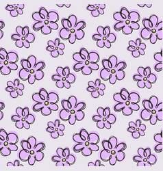 Blue flower pattern vector