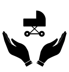 Carriage in hand icon vector image