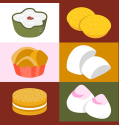 Chinese desserts vector