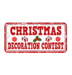 christmas decoration contest grunge rubber stamp vector image vector image