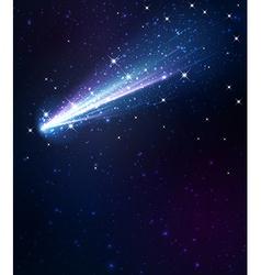 Comet background vector
