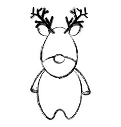 Cute christmas reindeer character vector