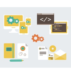 Flat design of business branding and development w vector image