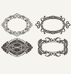 Four Oval Frames vector image