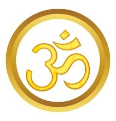 Hindu om symbol icon vector