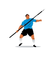 Javelin thrower cartoon vector