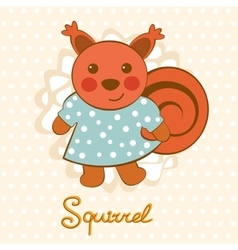 Little squirrel character vector image vector image