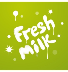 Milky texture text isolated on green background vector image vector image