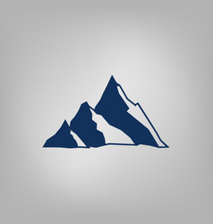 mountain icon - stylized image vector image