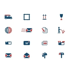 Post service simply icons vector image