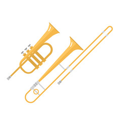 trombone tuba trumpet classical sound vector image