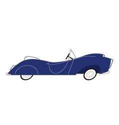 Vintage blue car vector