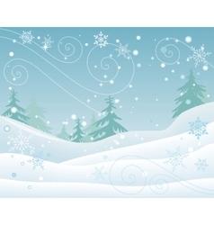 Winter Forest Landscape Flat Design vector image vector image