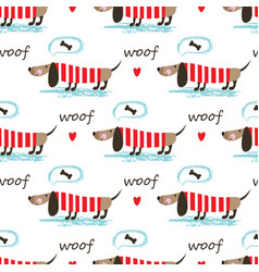 Seamless pattern with dogs vector